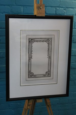 Rapilly Paris antique framed print of mirror design 3