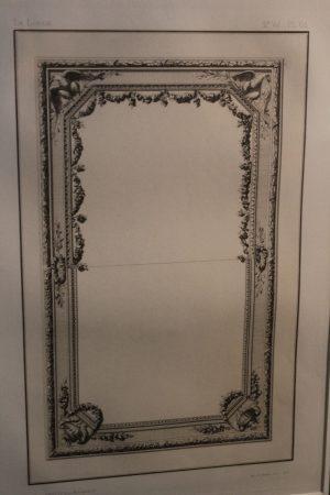 Rapilly Paris antique framed print of mirror design 2