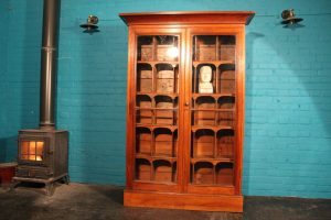 Edwardian antique mahogany display cabinet