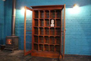 Edwardian antique mahogany display cabinet 3