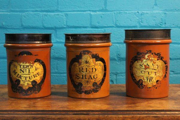 Antique salt glazed tobacco jars 4