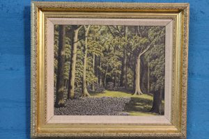 Oil on canvas Woodland scene