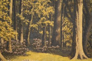 Oil on canvas Woodland scene 4