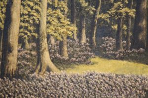 Oil on canvas Woodland scene 3