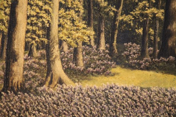 Oil on canvas Woodland scene 2