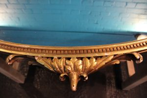 Large oval gilt wall mirror 4