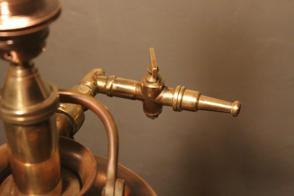 Bespoke vintage brass fire extinguisher lamp 3