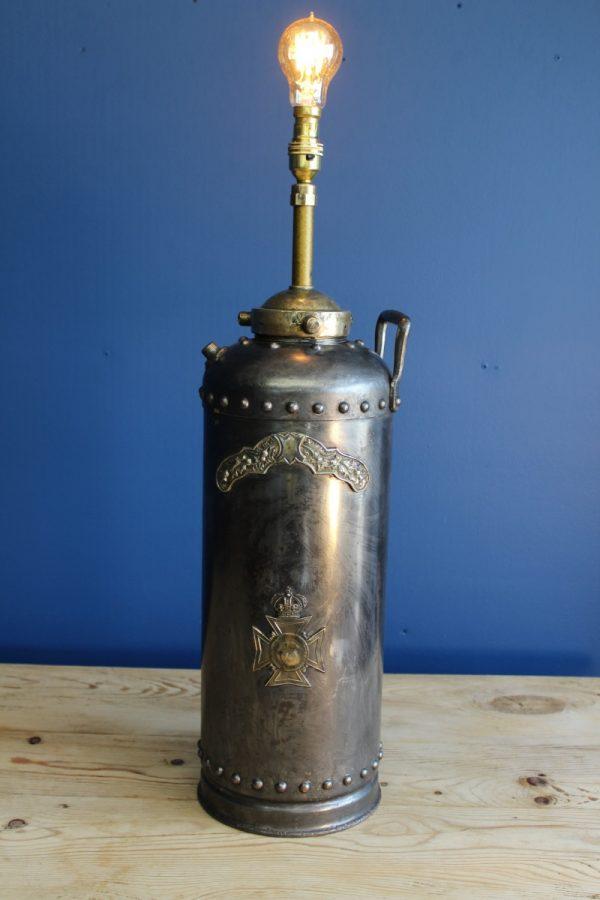 Bespoke fire extinguisher lamp 3