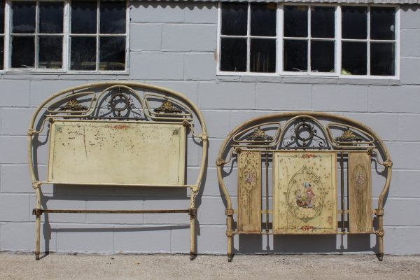 Antique chinoiserie French bed frame 7