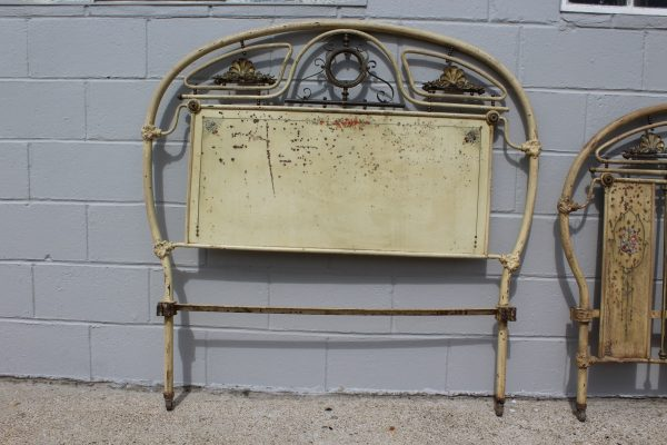 Antique chinoiserie French bed frame 2