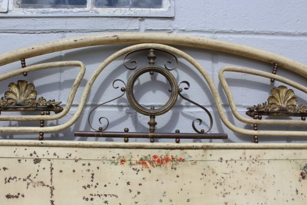 Antique chinoiserie French bed frame 3