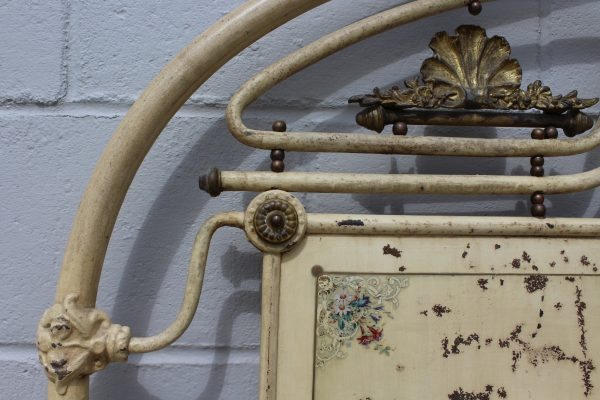 Antique chinoiserie French bed frame 4