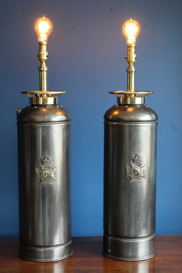 Bespoke fire extinguisher lamps 9