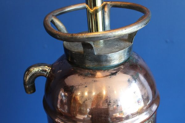 Bespoke copper and brass fire extinguisher lamp 3