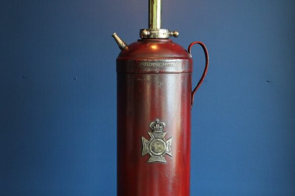 bespoke antique fire extinguisher lamp