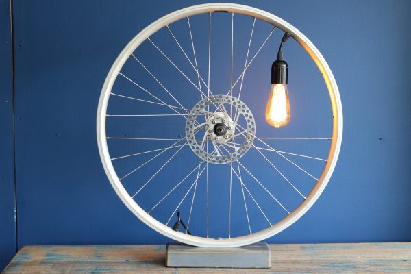 Bespoke bicycle wheel lamp