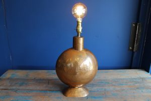 Copper lamp base