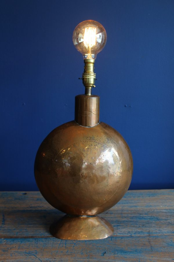Copper lamp base 2