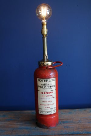 Bespoke petite fire extinguisher lamp 2