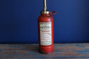 Bespoke petite fire extinguisher lamp