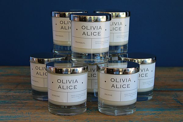 Olivia Alice vegan soy-based candles at George Juniper Peasenhall