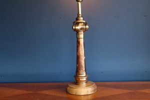 Copper and brass lamp