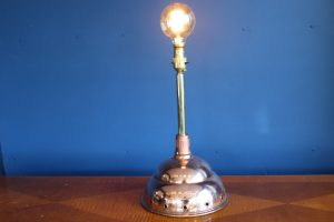 Copper and brass lamp 34