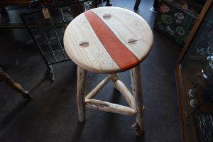 Cherry & yew stool