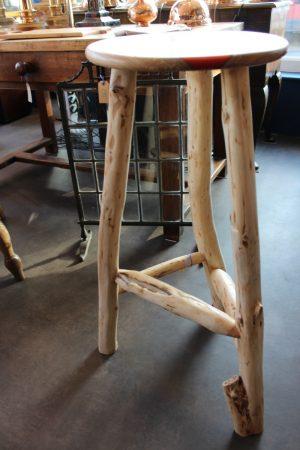 Cherry & yew stool 3