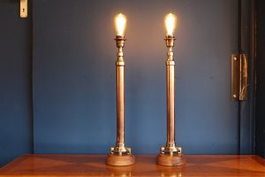Copper and brass lamp 80