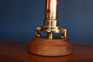 Copper and brass lamp 82