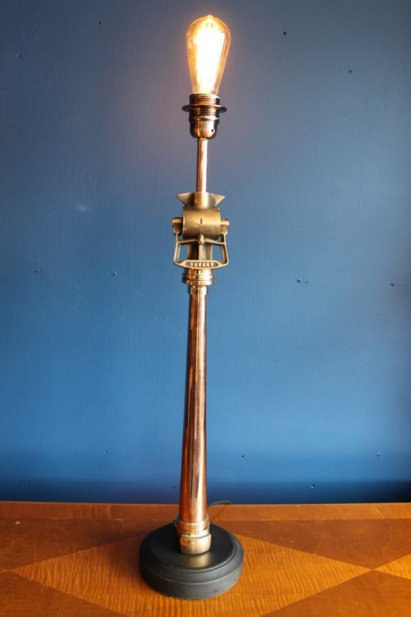 Brass and copper lamp 379