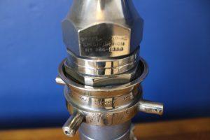 Aluminium and brass lamp 4