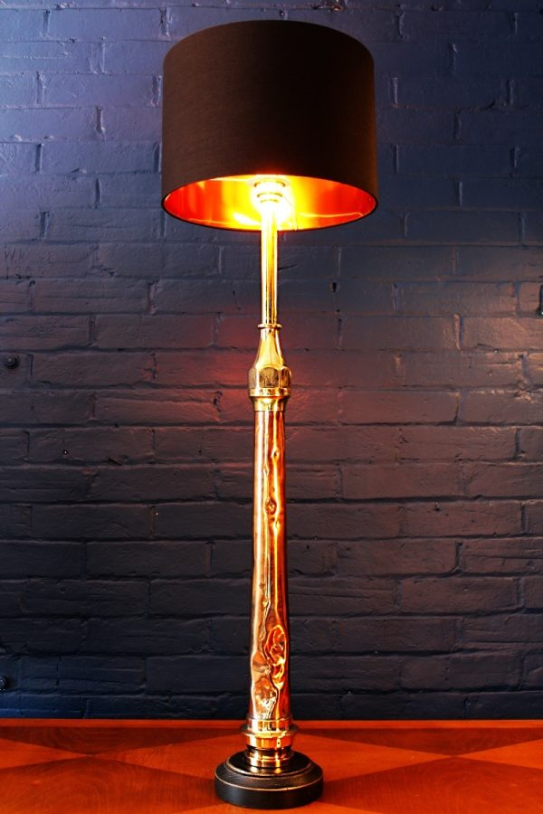 Upcycled recycled bespoke fire tall copper brass branch lamp light