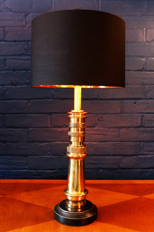 Upcycled recycled bespoke fire brass sprayer branch lamp light 3