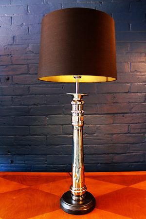 Upcycled recycled bespoke chrome branch lamp light