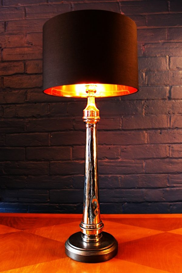 upcycling recycling chrome fire branch nozzle lamp light 15