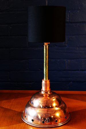 upcycling recycling bespoke copper brass dolly prosser lamp light