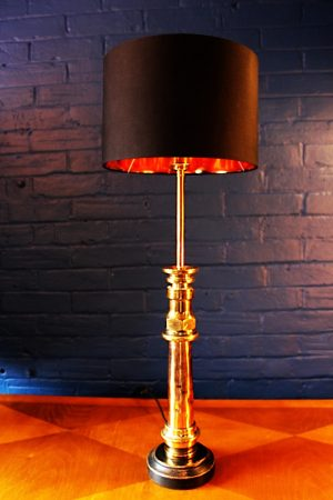 upcycling recycling bespoke copper brass fire branch nozzle lamp light 30