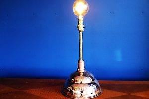 upcycled recycled bespoke copper dolly light lamp 2