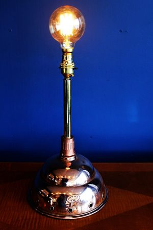 upcycled recycled bespoke copper dolly light lamp 1