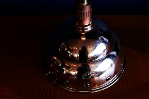 upcycled recycled bespoke copper dolly light lamp 3