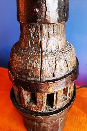 upcycling recycling bespoke cartwheel hub lamp light 4