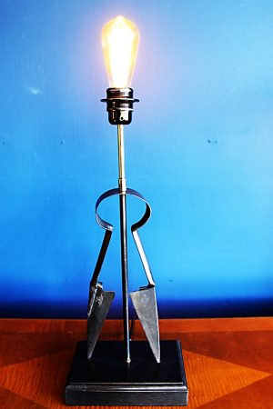 upcycling recycling wool shears lamp light 1