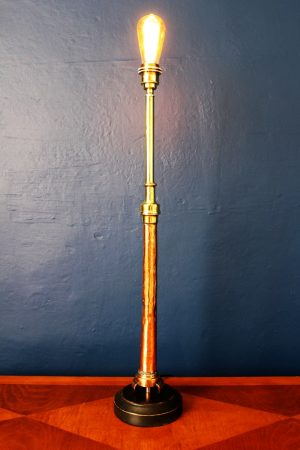 upcycling recycling bespoke copper fire branch nozzle lamp light 3