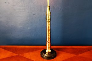 upcycling recycling bespoke copper fire branch nozzle lamp light 7