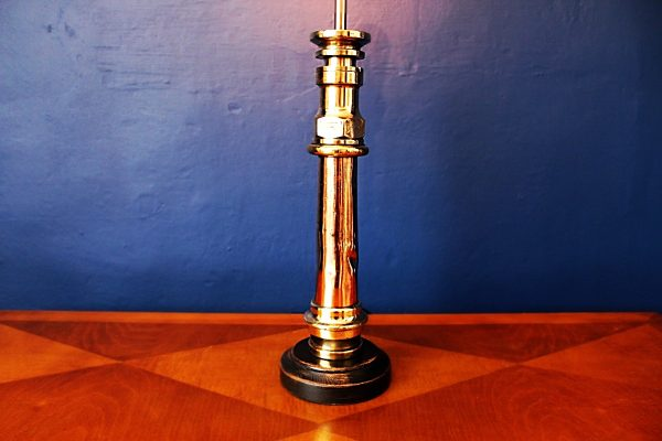 upcycled recycled bespoke brass copper branch nozzle light lamp 2