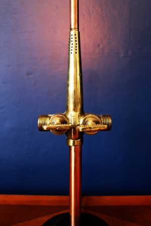 upcycled recycled bespoke brass barrel tap light lamp 3