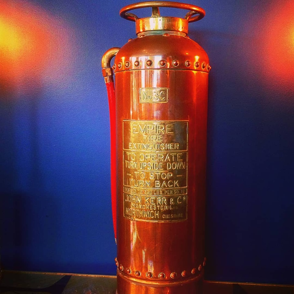 Copper and Brass Fire Extinguisher