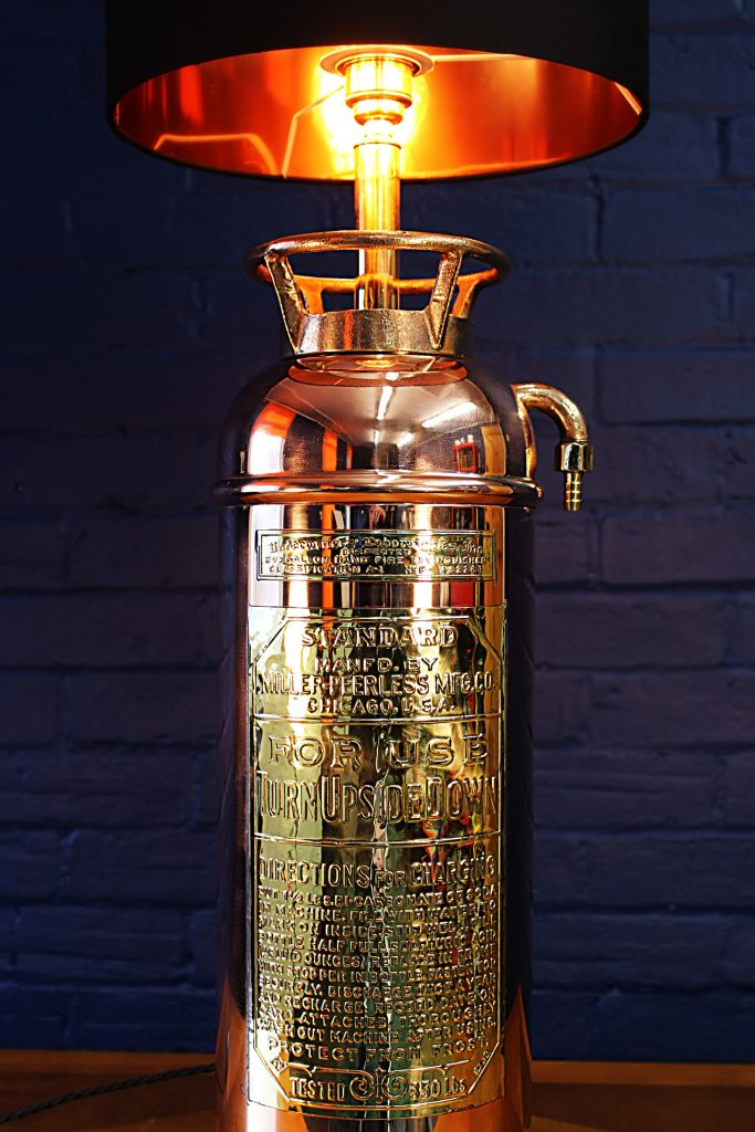 Copper brass fire extinguisher bespoke